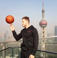 Blake Griffin Balances a Basketball with his Middle Finger in Shanghai