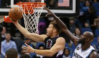 Blake Griffin Reverse Layup Gets Hit on the Head by Kevin Garnett