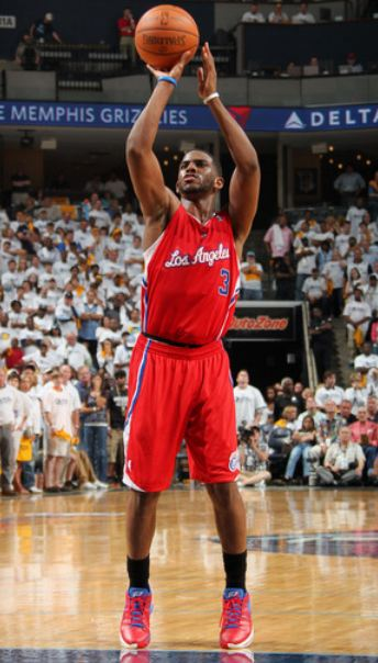 Chris Paul free throw shooting form during game 1 of ...