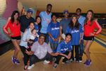 Clipper fans group pic with Reggie Bullock Chris Paul Basketbowl 2014