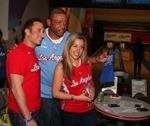 Doc Rivers picture with two Clipper fans at Basketbowl 2014
