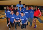 Group photo of Clipper fans with DeAndre Jordan Clipper Spirit Basketbowl 2014