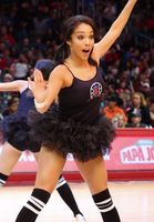Clipper Spirit Girl in Black Tanktop and Tutu Performing at Staples Center 2016
