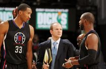 Clipper Teammates Wesley Johnson & Chris Paul Conference with Lawrence Frank