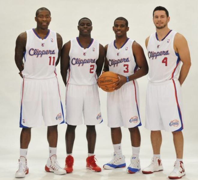 ¿Cuánto mide Chris Paul? - Real height Clipper_teammates_Jamal_Crawford_Darren_Collison_Chris_Paul_and_JJ_Redick_group_photo