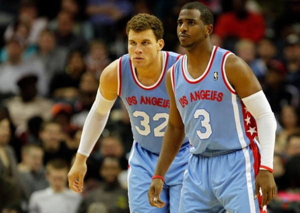 5e7f406d63b Clipper teammates and leaders Chris Paul and Blake Griffin in retro jerseys  of the LA Stars - Clippers News Surge NBA Gallery - Los Angeles Clippers ...