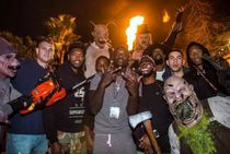 Clippers 2015-16 Teammates at Hollywood Haunted Nights