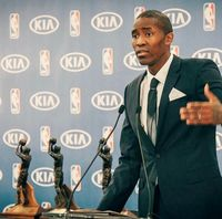 Jamal Crawford Accepting his 6th Man of the Year Award 2016