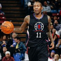 Jamal Crawford in Clippers Hollywood Black Jersey Dribbles the Ball 2016