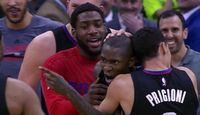 Jamal Crawford is Mobbed by Teammates After Hitting Game Winning 3 in Utah 2016