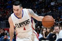 JJ Redick with new arm Tattoos Drives to his Right in Clippers Home Jersey