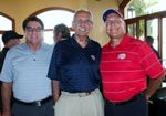 Ralph Lawler and 2 Clipper fans at the 2014 Charity Golf Classic