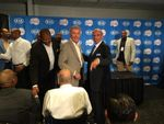 Ralph Lawler with Gene Shue Marques Johnson